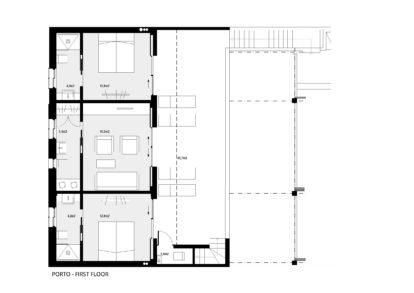 Villa Porto | First floor plans