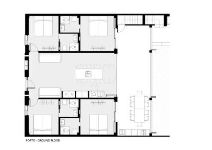 Villa Porto | Gound floor plans