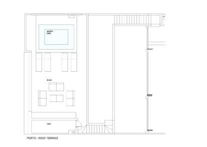 Villa Porto | Roof terrace plans